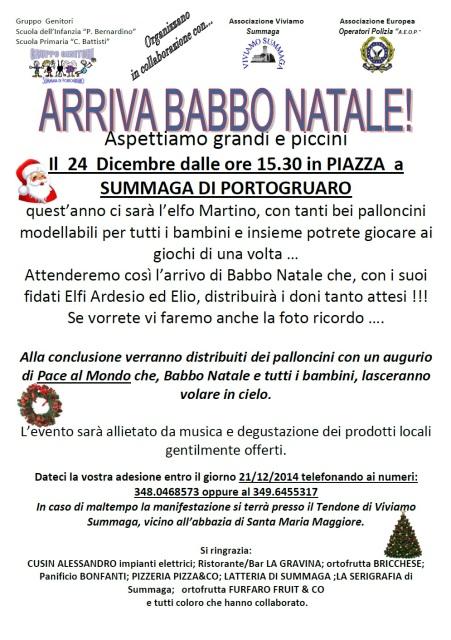 Locandina Arriva Babbo Natale 2014
