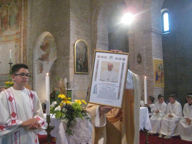 La lettera augurale e di benedizione apostolica inviata da Papa Francesco