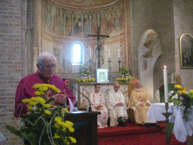 L'intervento di Monsignor Giancarlo Stival, parroco di S.Maria in Sylvis di Sesto al Reghena