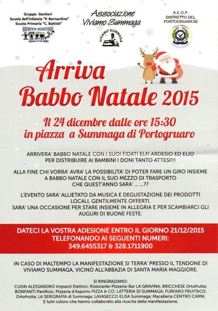 Arriva Babbo Natale 2015
