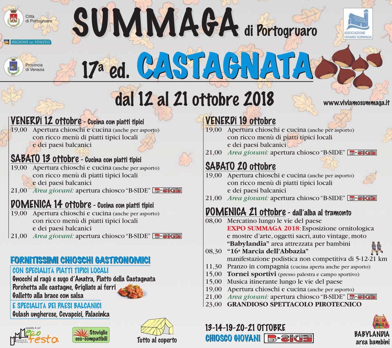 Programma Castagnata 2018